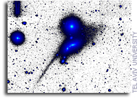 Astronomers Discover Giant Relic of Disrupted Tadpole Galaxy