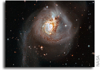 Galactic Collision Lights Up The Darkness