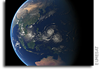 Super-Typhoon Mangkhut Seen From Orbit