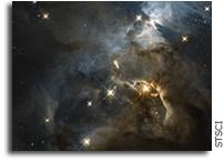 Hubble Reveals a Giant Cosmic 'Bat Shadow'