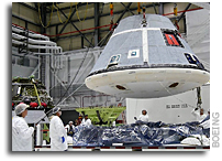 CST-100 Starliner Prepared For Transport