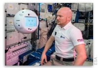 NASA Space Station On-Orbit Status 15 November 2018 - Crew Interactive Mobile Companion (CIMON) A Free-flying Robotic Assistant Powered Up