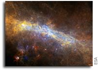 Herschel's view of the Galactic Center