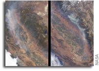 MISR Views Raging Fires in California
