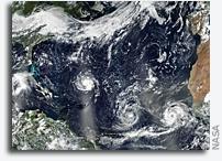 Three Major Atlantic Storms Viewed From Orbit