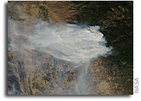 Orbital View Of Camp Fire In California