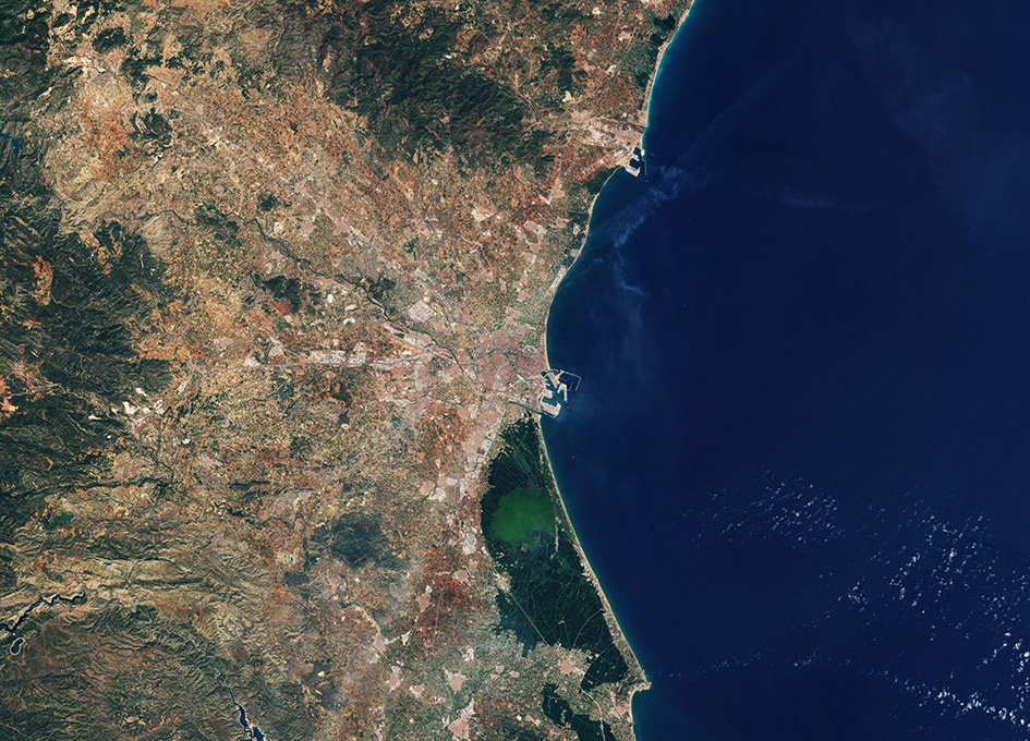 Earth from Space - Valencia Spain