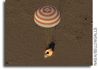 Space Station Crew Lands In Kazakhstan