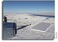 Two Rectangular Icebergs Spotted on NASA IceBridge Flight