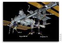 NASA Space Station On-Orbit Status 27 September 2018 - Japan's HTV7 Docked to the Space Station
