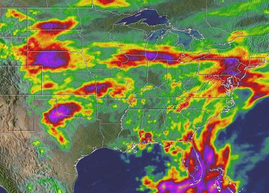 NASA Measures Heavy U.S. Rainfall From Space