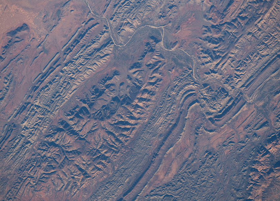 N'Dhala Gorge Nature Park Seen From Space