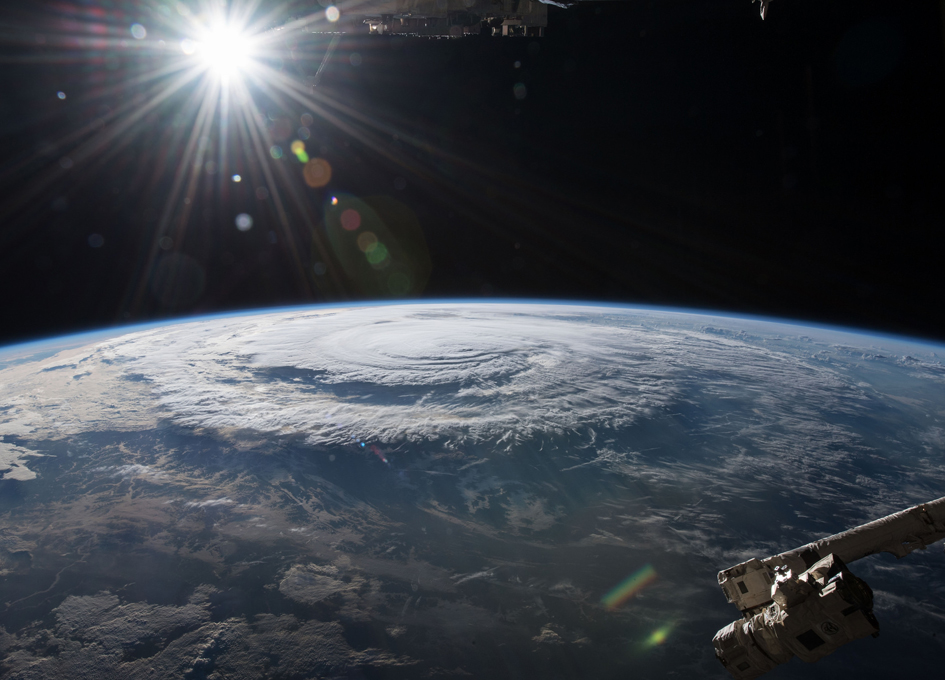 Hurricane Florence Making Landfall As Seen From Orbit