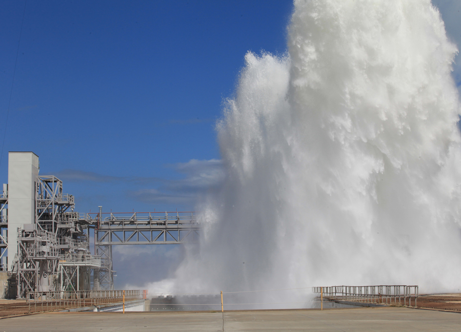 Testing The Ignition Overpressure Protection and Sound Suppression Water Deluge System
