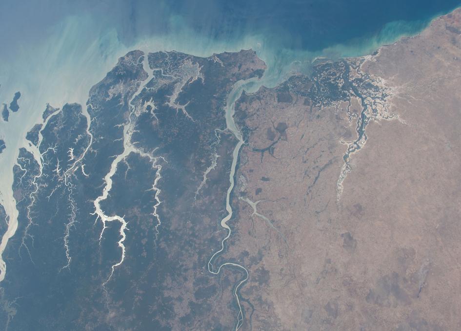 Guinea-Bissau Seen From Orbit
