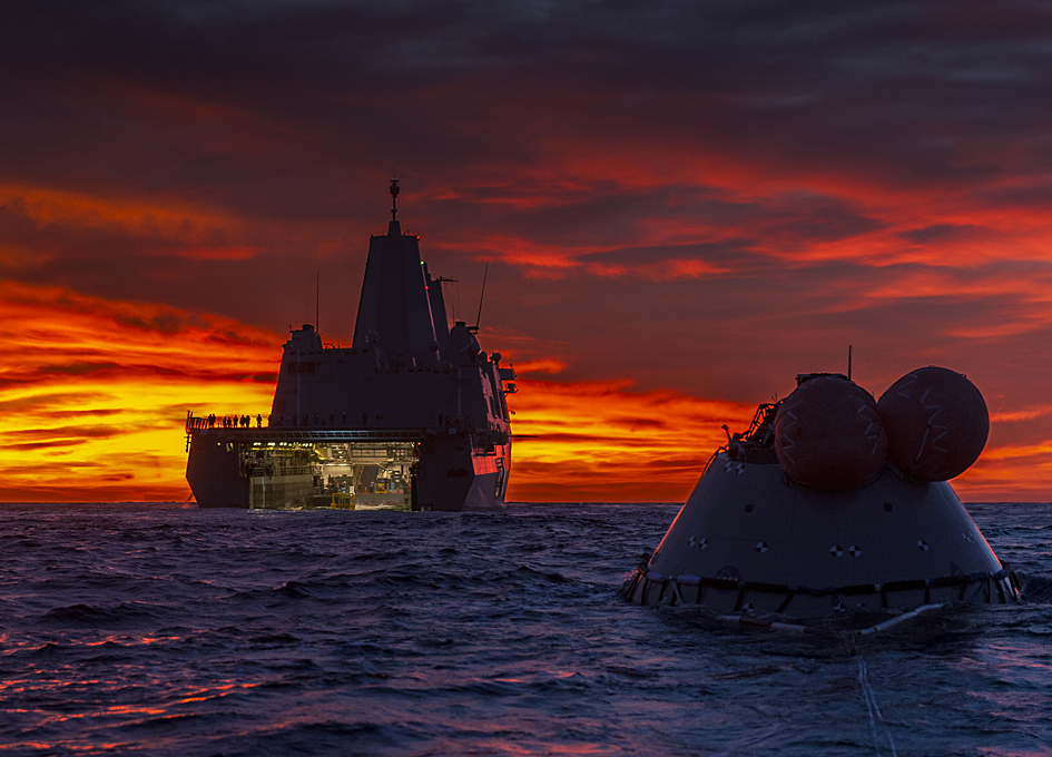 Orion At Sea At Sunset