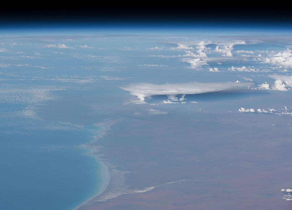 Orbital View Of Storm Clouds Above Western Australia