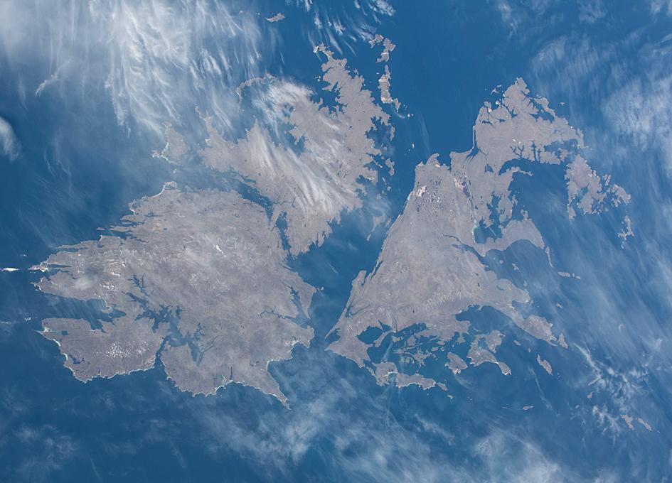 The Falkland Islands (Islas Malvinas) Seen From Orbit
