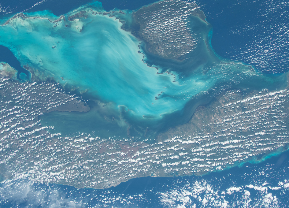 Cuba and the Gulf of Batabano in the Caribbean Sea