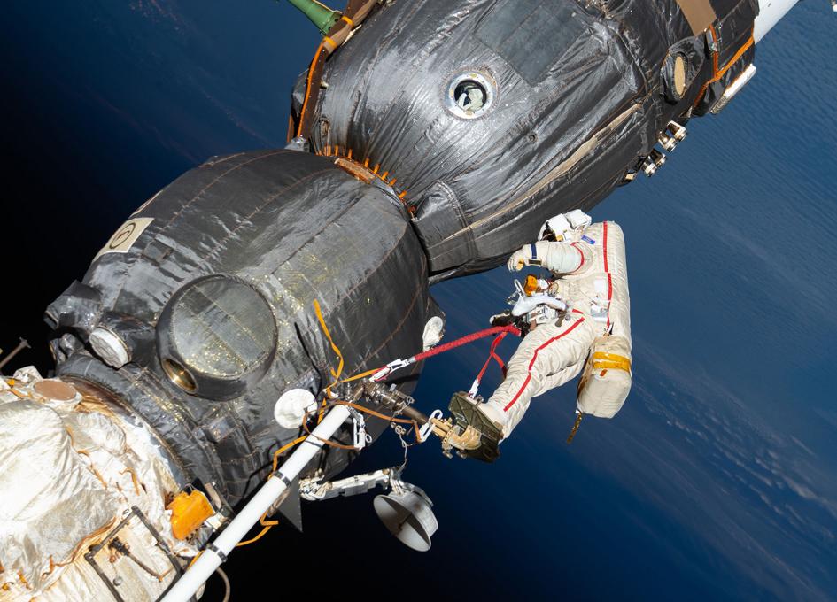 Oleg Kononenko Works Outside The International Space Station