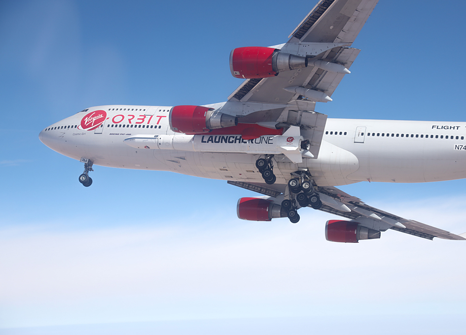 First LauncherOne Captive Carry Flight By Virgin Orbit