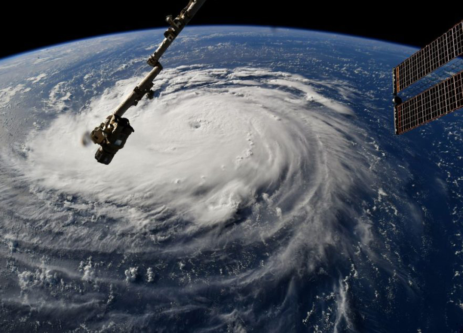 NASA revealed the extent of hurricane Florence from space