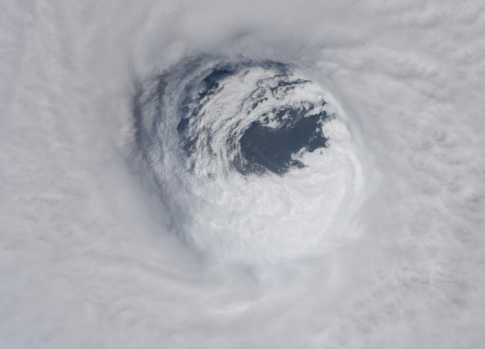 Eye of Hurricane Michael Seen From Orbit