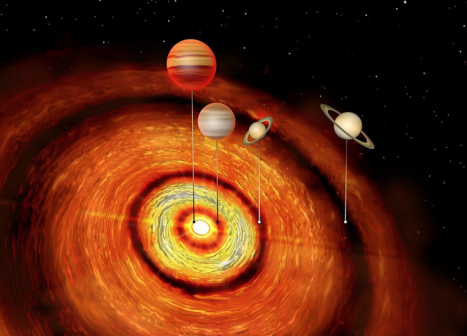 Astronomers Discover Young Planetary System with Four Gas Giants | Astronomy
