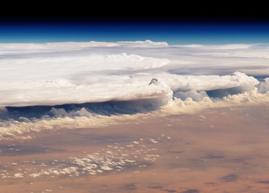 Thunderstorms Over Saudi Arabia Seen From Orbit