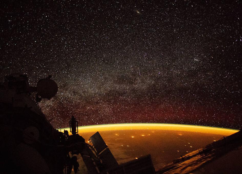 Orbital View Of Earth's Airglow
