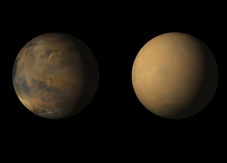 Global Impact Of Massive Martian Dust Storm