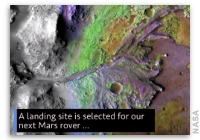 This Week at NASA: Landing Site Selected for Next Mars Rover and More