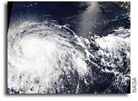 Major Hurricane Barbara Seen From Orbit