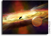 Outbursts Of Hot Wind Detected Close To A Black Hole