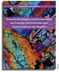 报告:对外星样本管理和分析仪器和设施的战略投资