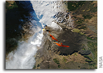Eruption Of Mt. Etna Seen From Space