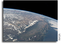 California and Nevada Seen From Orbit