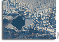Orbital View Of Sayram Lake In China