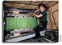 Astronaut Christina Koch Fixes COLBERT Treadmill On ISS