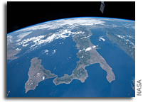 Italy And Sicily Seen From Orbit