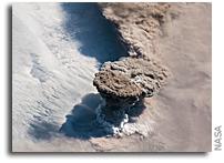 Orbital View As Raikoke Volcano Erupts