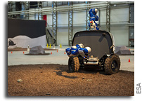 Astronaut Luca Controls A Rover On Earth