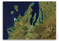 Earth from Space: Leelanau Peninsula, US