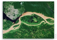 Earth from Space: Meeting of Waters in Brazil