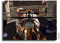 Mars Helicopter Attached to Mars 2020 Rover