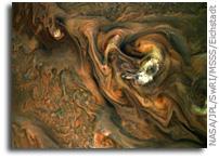 Jet Stream In Jupiter's Northern Hemisphere