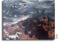 Orbital View As Fires Ravage The Amazon