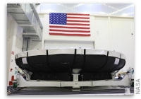 Heat Shield for First Artemis Mission Arrives at the Kennedy Space Center