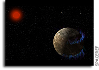 Can We Detect Aurora in Exoplanets Orbiting M dwarfs?