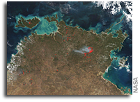 Suomi NPP Sees A Huge Fire in Australia's Northern Territory